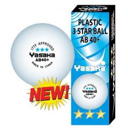 """Balles YASAKA ABS + 3*** """"Boite de 3 balles"""""""