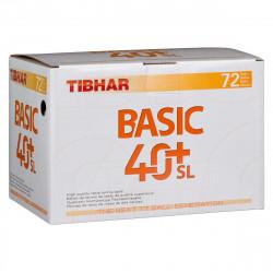 """Balles TIBHAR Basic 40+ SL """"Boite de 72"""""""